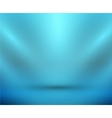 blank light room blue vector image vector image