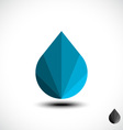 Abstract water drop icon vector image