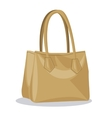 beige purse lady fashion style vector image