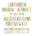 Hand Drawn Cartoon Alphabet Letters vector image