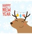 Happy new year postcard vector image