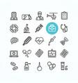 medicine symbols and signs black thin line icon vector image