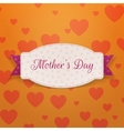 Mothers Day paper Banner Template and pink Ribbon vector image