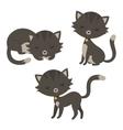 Set of funny cartoon cats vector image