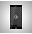 Smartphone with transparent place for video player vector image