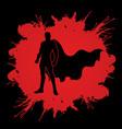 super hero man standing graphic vector image