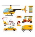 taxi cab isolated white vector image