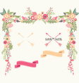 Wedding Floral Elements Save the Date Invitation vector image
