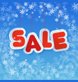winter sale in paper tags style chrismas winter vector image