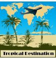 tropical destination vector image