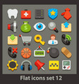 flat icon-set 12 vector image