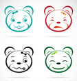 image of an bear face vector image vector image