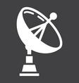 satellite dish solid icon antenna and radar vector image