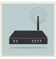 Wi-Fi Router on Retro Background vector image
