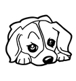Cartoon of Funny Dog for Coloring Book vector image