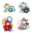 Cartoon girls and boys vector image vector image
