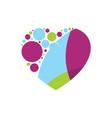 colour love vector image