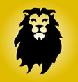 Hipster logotype with head of lion vector image