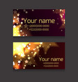 set of business cards with sparks and stars on vector image