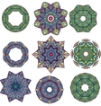 Mandalas Round Ornament Pattern vector image