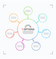 minimal style circle infographic template with 7 vector image