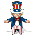 Uncle Sam Showing vector image