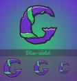 Halloween decorative alphabet - G letter vector image