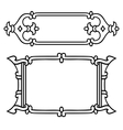 Russian style black ornamental decorative frame vector image vector image