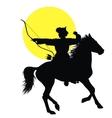 Oriental horseman vector image vector image