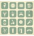 Retro beer icons set vector image vector image