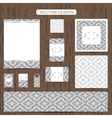 Set of eleven decorative ornamental business vector image