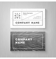 Trendy business card vector image