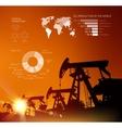 Oil derrick infographic vector image