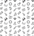 Woman accessories seamless pattern of cosmetics vector image