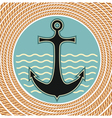 nautical anchor symbol vector image vector image