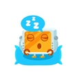 Sleeping Little Robot Character vector image