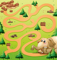 Game template with elephant and peanut vector image