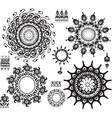 Set of ornamental pattern vector image