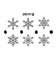 Abstract outline snowflakes vector image