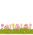 Beautiful Easter background with easter eggs in vector image