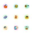 Cash icons set pop-art style vector image