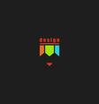 Colorful pencil logo mockup creative design art vector image