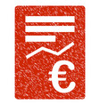 euro report icon grunge watermark vector image