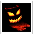 Halloween invitation poster vector image