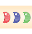 Minimal infographic template background vector image