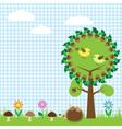 oak and birdsf vector image