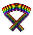 rainbow ribbon icon icon cartoon vector image
