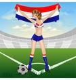 Croatian girl soccer fan vector image