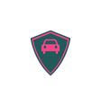 Car shield Icon vector image