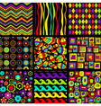 Stylish seamless patterns vector image